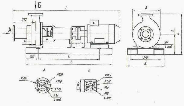 схема насоса СМ 100-65-200